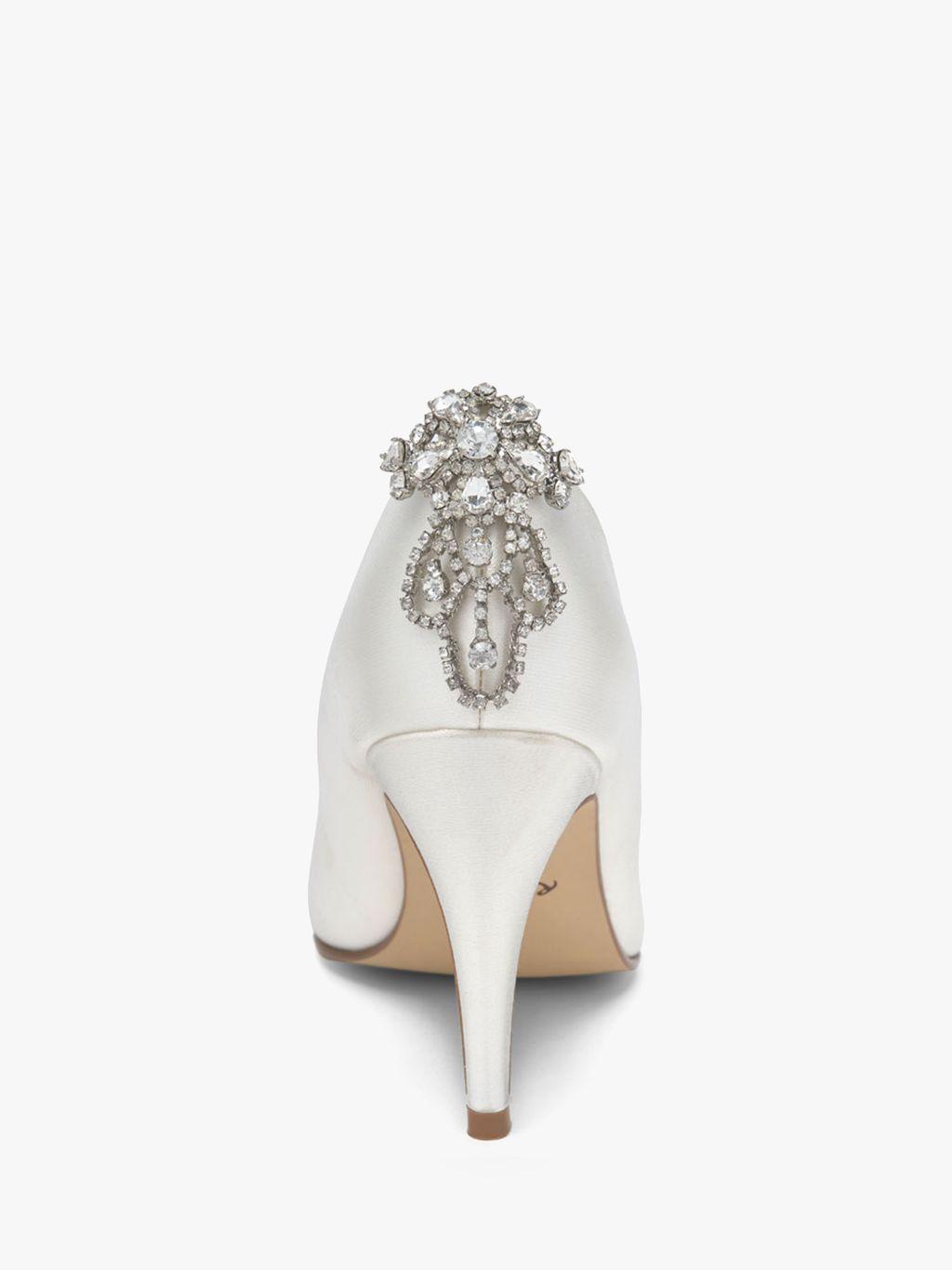 Rainbow Club Rainbow Club Electra Diamante Shoe Clips, Silver