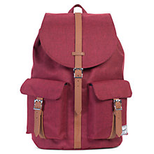Buy Herschel Supply Co. Dawson Backpack, Winetasting Red Online at johnlewis.com