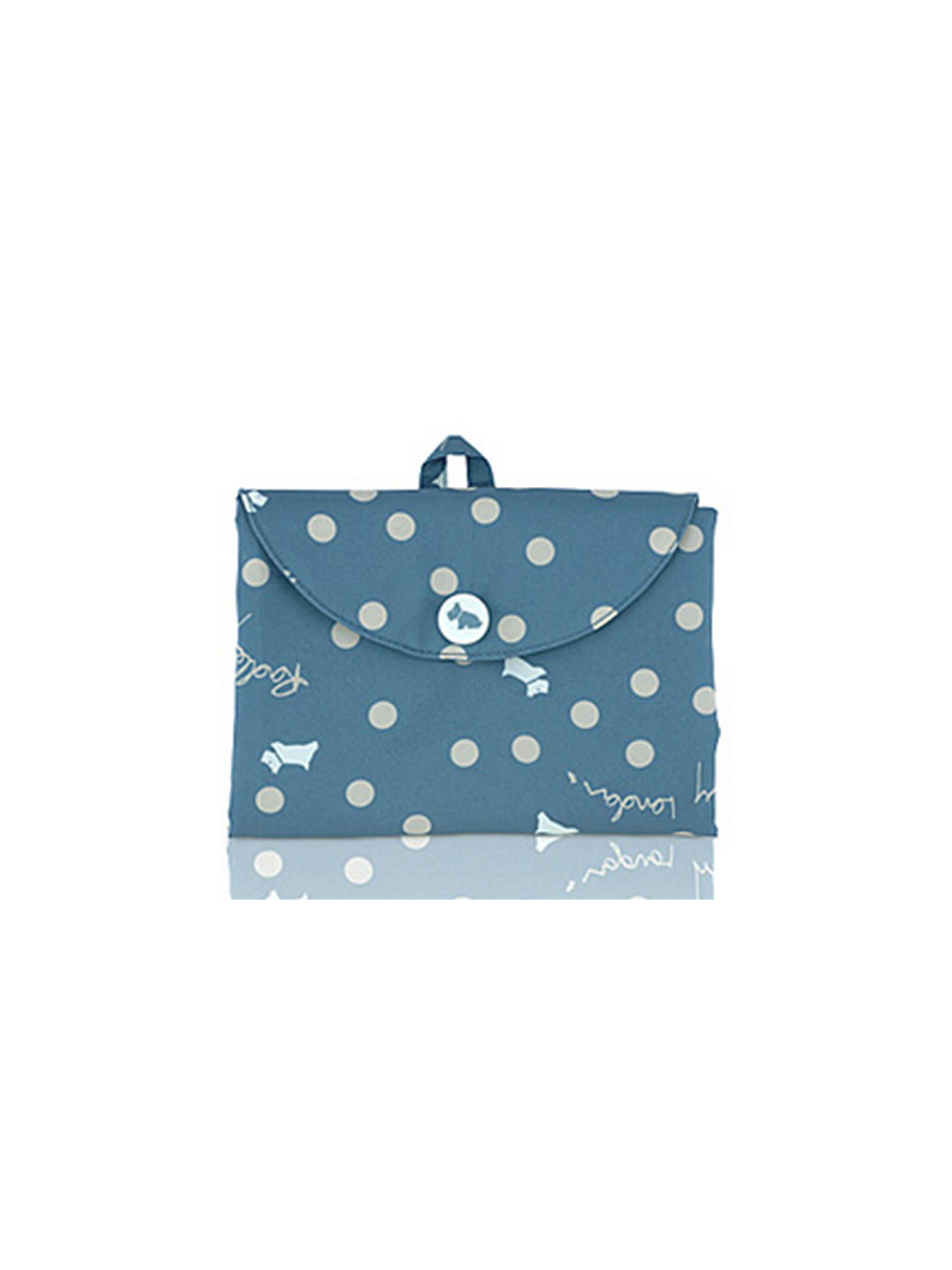 a4370a81957d4 Radley Vintage Dog Dot Foldaway Canvas Tote Bag at John Lewis   Partners