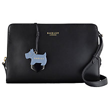 Buy Radley Liverpool Street Leather Medium Across Body Bag, Black Online at johnlewis.com
