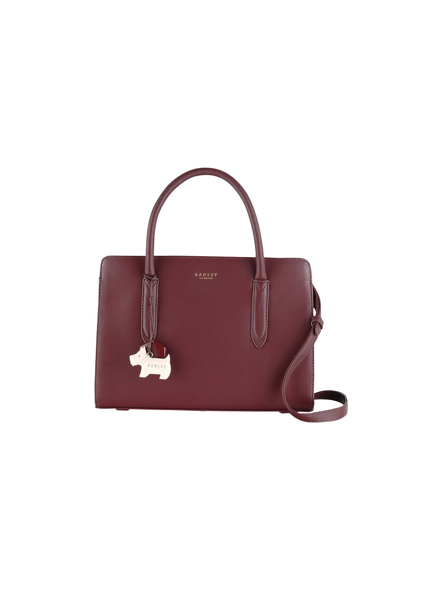 Radley Liverpool Street Medium Leather Grab Bag, Burgundy by Radley