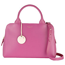 Buy Radley Millbank Medium Leather Multiway Bag, Pink Online at johnlewis.com
