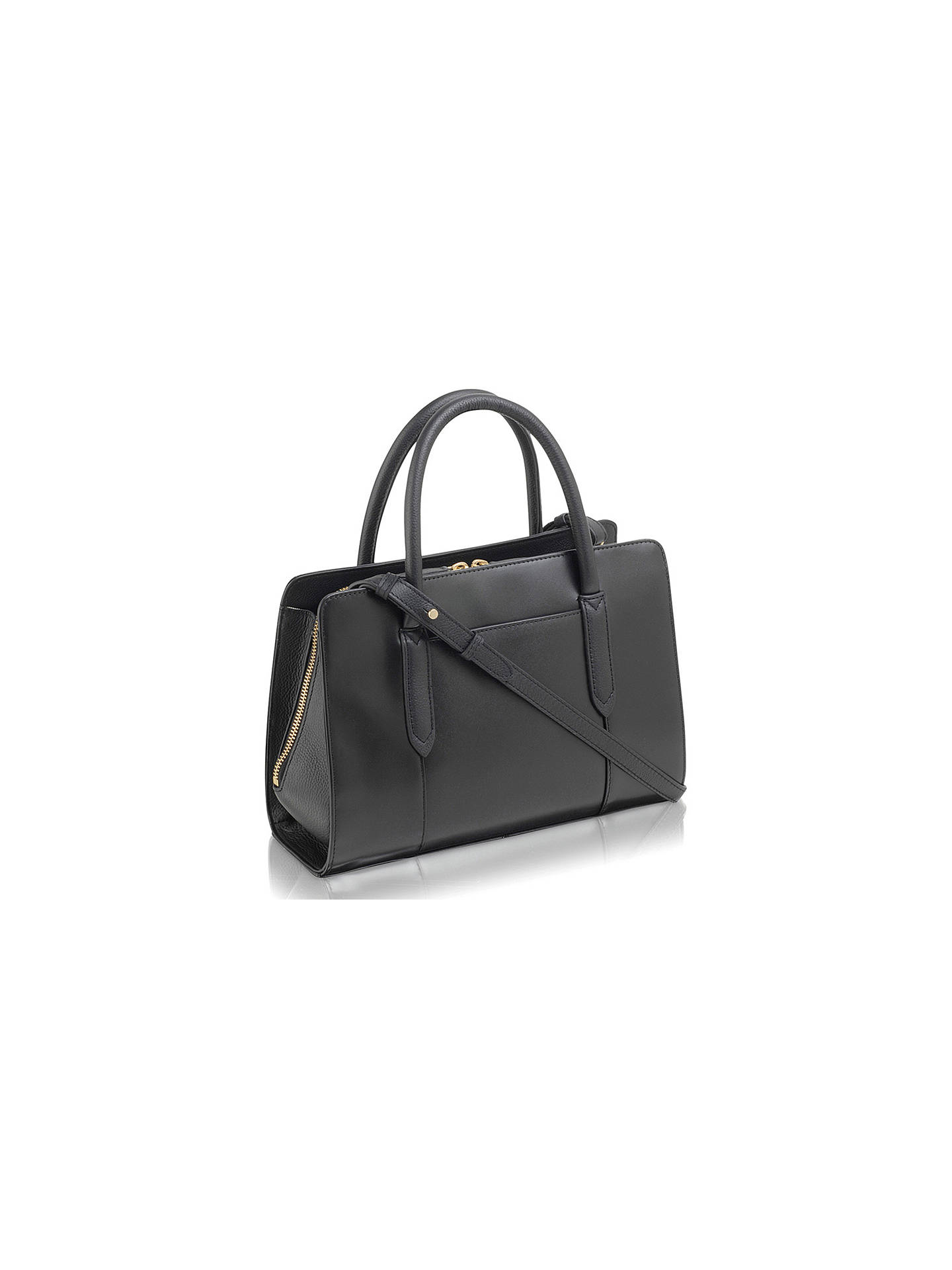 Buy Radley Liverpool Street Medium Leather Grab Bag, Black Online at johnlewis.com