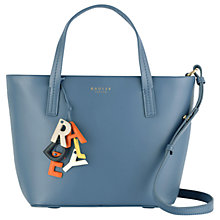 Buy Radley De Beauvoir Medium Leather Tote Bag, Blue Online at johnlewis.com
