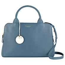 Buy Radley Millbank Medium Leather Multiway Bag, Blue Online at johnlewis.com