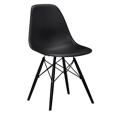 Vitra Eames DSW Side Chair, Black Maple Leg