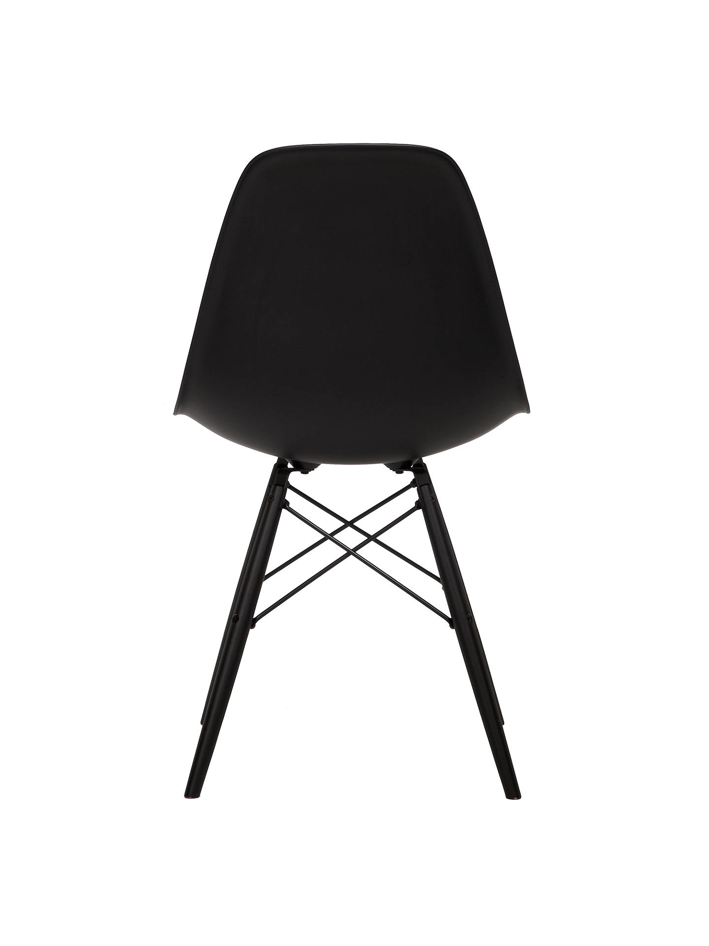 BuyVitra Eames DSW Side Chair, Black Maple Leg, Black Online at johnlewis.com