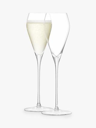 LSA International Prosecco Glass, 250ml, Set of 2, Clear