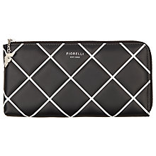 Buy Fiorelli Logo Travel Wallet, Monochrome Online at johnlewis.com