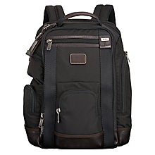 Buy Tumi Alpha Bravo Shaw DLX Backpack, Black Online at johnlewis.com