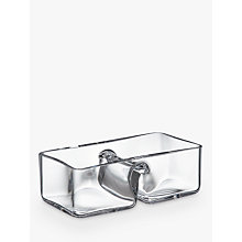 Buy John Lewis Two-Part Glass Bowl, Clear Online at johnlewis.com