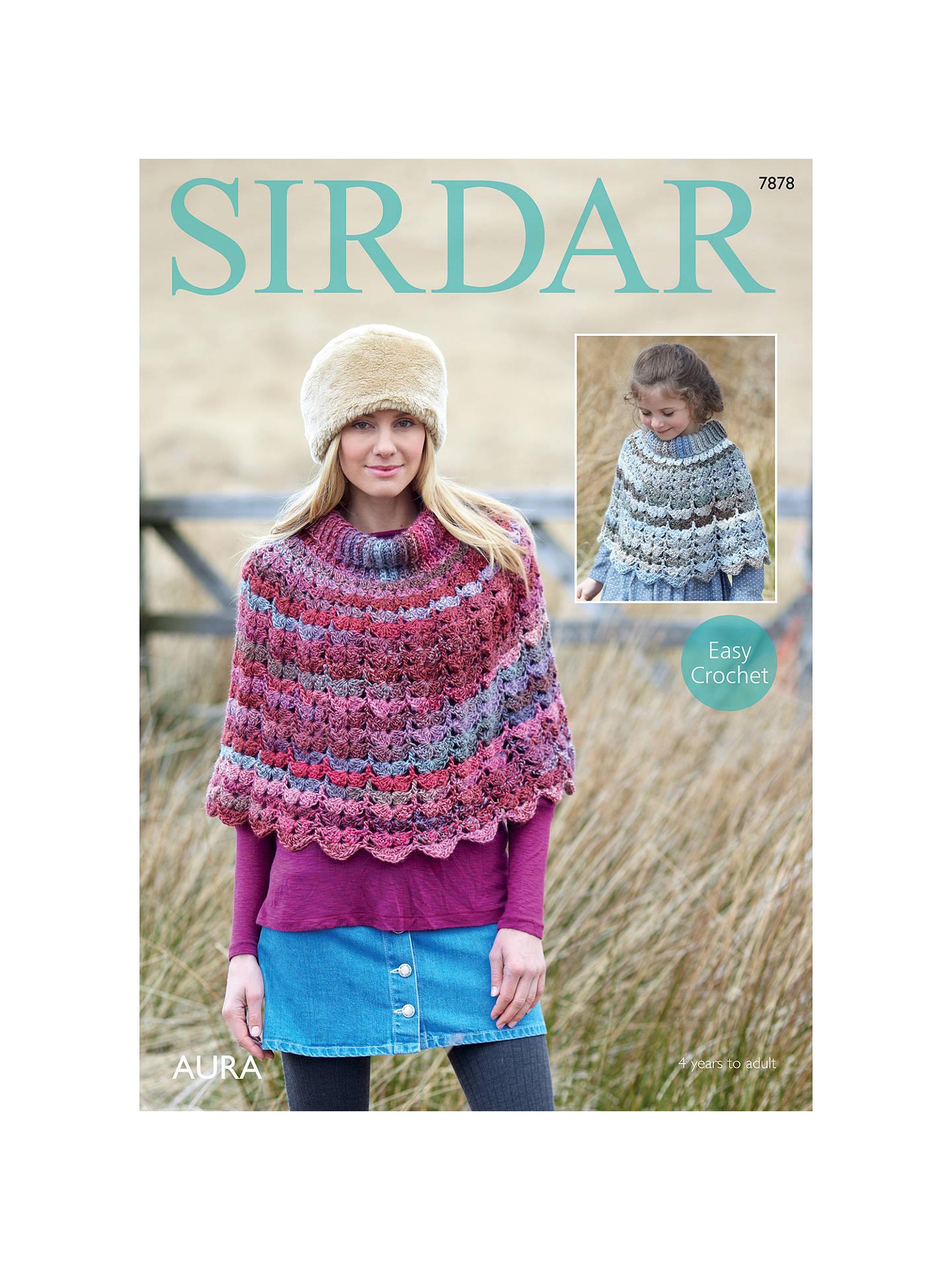 Sirdar Aura Chunky Poncho Crochet Pattern 7878 At John Lewis Partners