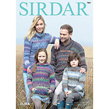Buy Sirdar Aura Chunky Jumpers Knitting Pattern, 7881 Online at johnlewis.com