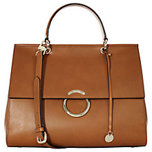 Buy Karen Millen O Ring Large Bag, Tan Online at johnlewis.com