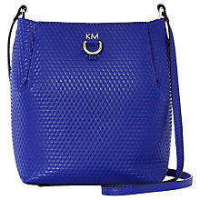 Buy Karen Millen Square Duffle Shoulder Bag, Blue Online at johnlewis.com