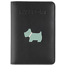 Buy Radley Heritage Dog Leather Passport Cover, Black Online at johnlewis.com