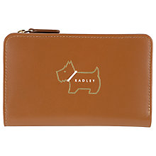 Buy Radley Heritage Dog Outlined Medium Leather Zip Purse Online at johnlewis.com