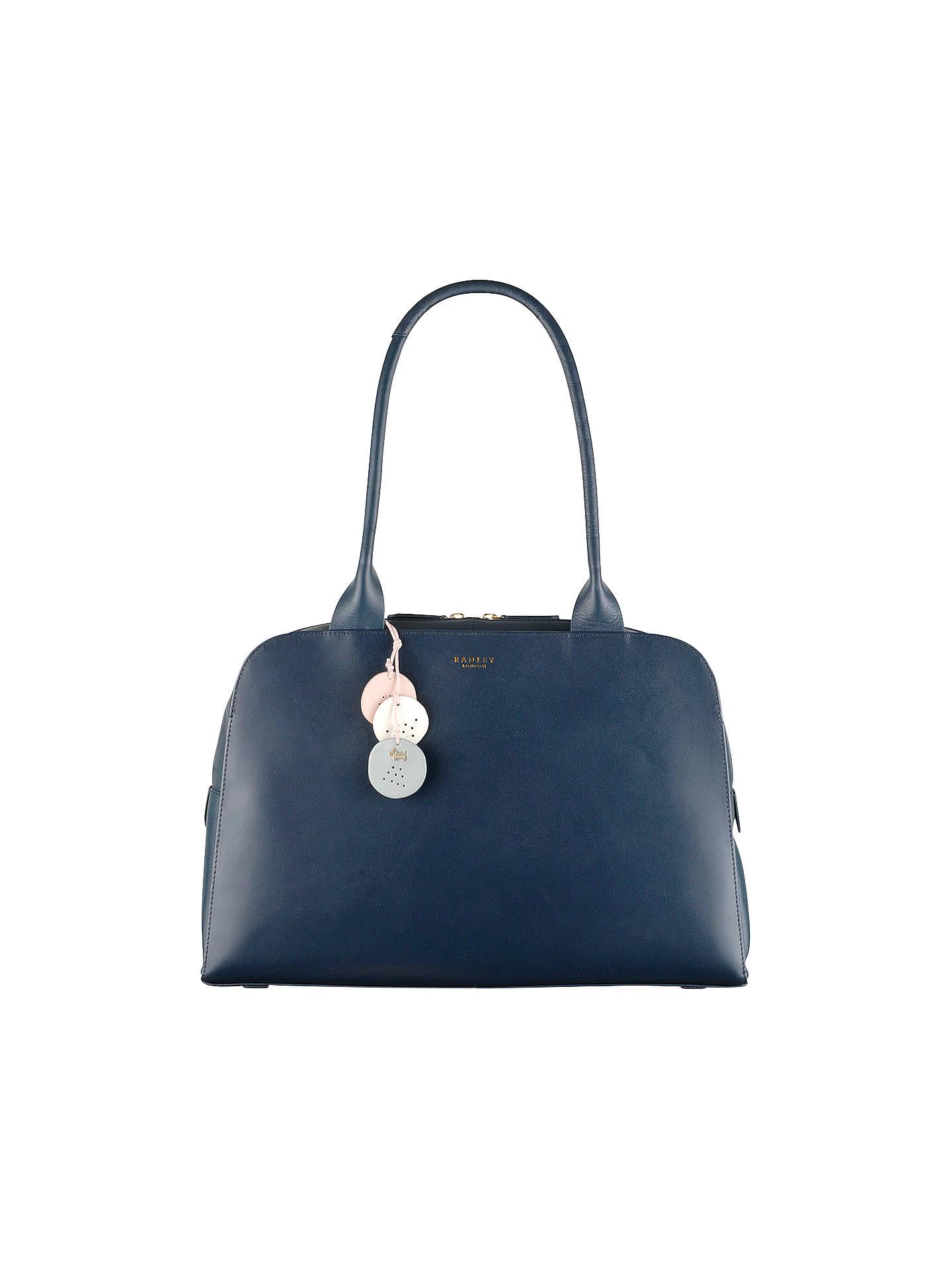 5a58fb15bdc Buy Radley Millbank Leather Large Tote Bag, Blue Online at johnlewis.com ...
