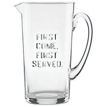 Buy kate spade new york 'First Come, First Served' Glass Pitcher Online at johnlewis.com