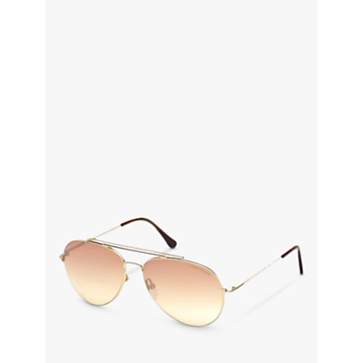TOM FORD FT0497 Aviator Sunglasses, Gold/Pink Gradient thumbnail