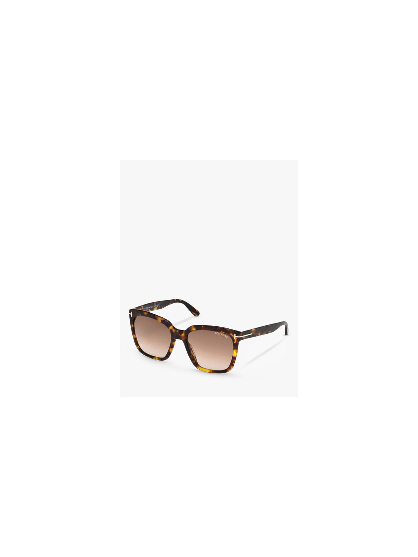 383077414222 TOM FORD FT0502 Square Sunglasses at John Lewis   Partners