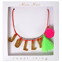 Buy Meri Meri Children's Jolly Christmas Necklace, Multi Online at johnlewis.com