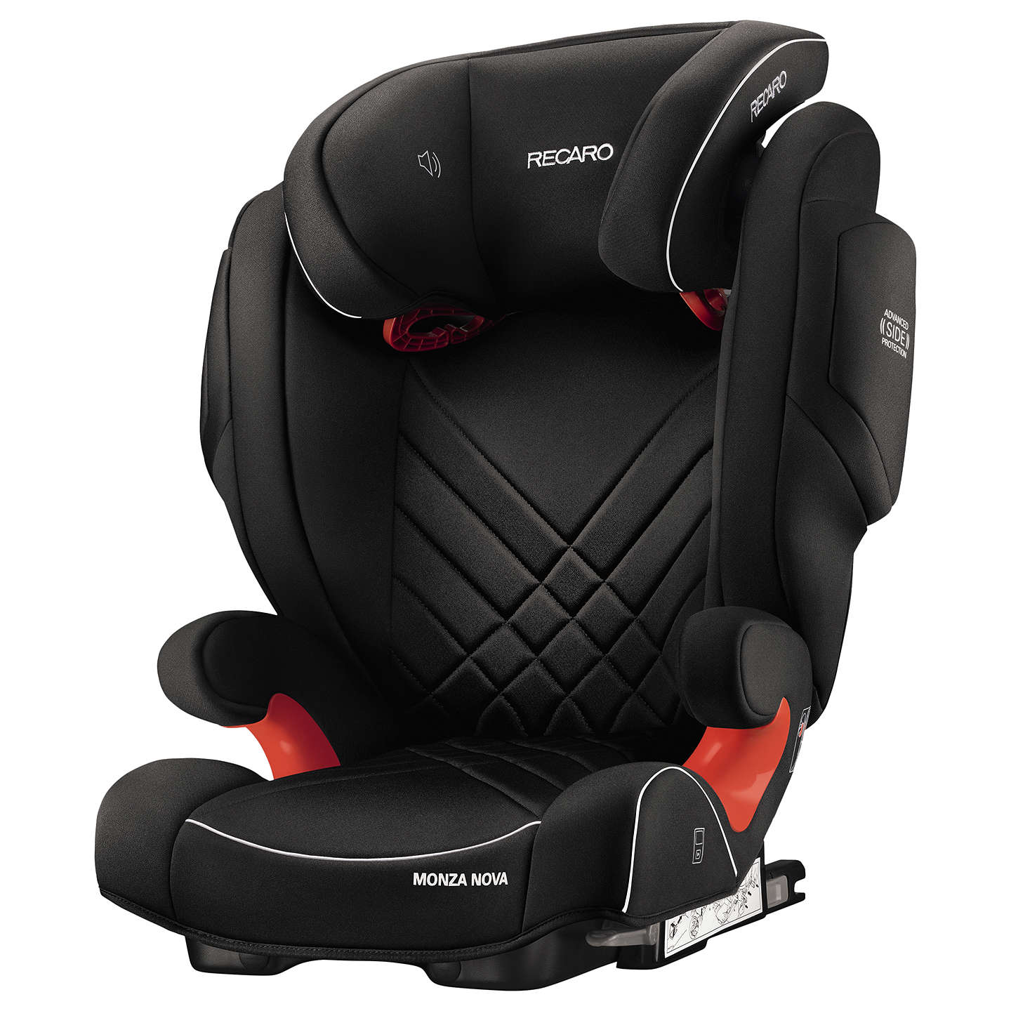 BuyRecaro Monza Nova 2 Seatfix Group 2/3 Car Seat, Performance Black Online at johnlewis.com
