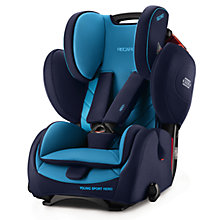 Buy Recaro Young Sport Hero Group 1/2/3 Car Seat, Xenon Blue Online at johnlewis.com