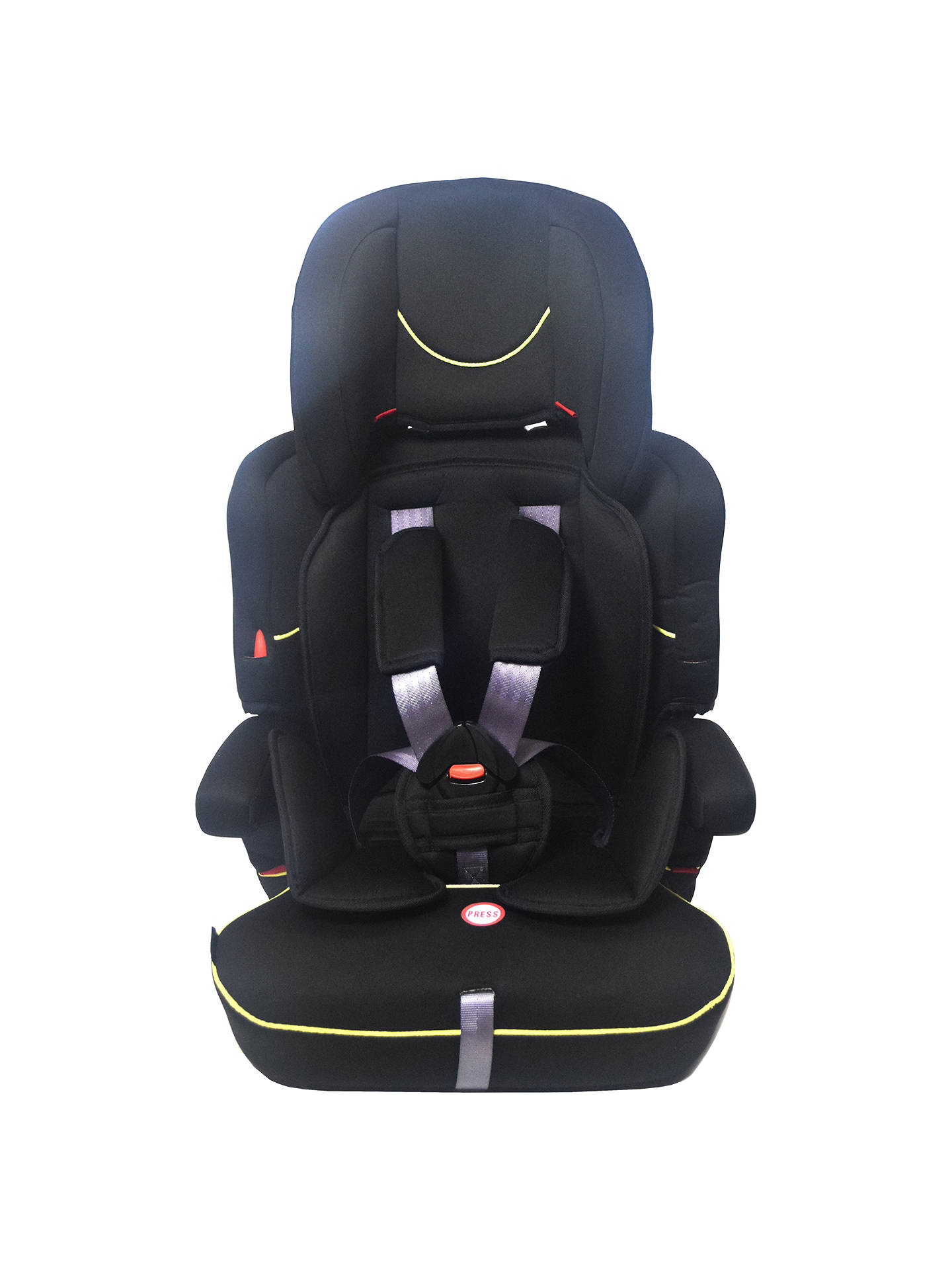 6c264b462e70 John Lewis & Partners Group 1/2/3 Car Seat, Black at John Lewis ...