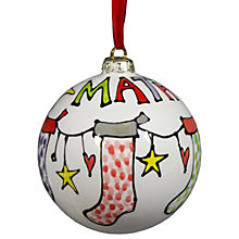 Buy Gallery Thea Personalised Named Stocking Bauble Online at johnlewis.com