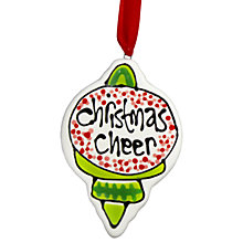 Buy Gallery Thea Personalised Retro Christmas Hanging Decoration Online at johnlewis.com