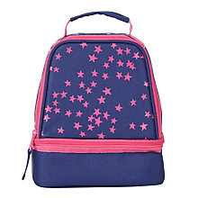 Buy John Lewis Children's Star Print Lunch Box, Navy/Pink Online at johnlewis.com