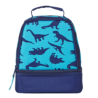 John Lewis Children's Dinosaur Print Lunch Box, Navy