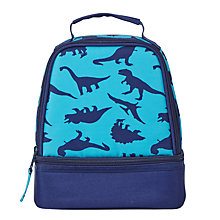 Buy John Lewis Children's Dinosaur Print Lunch Box, Navy Online at johnlewis.com