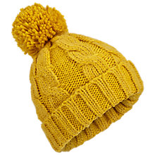 Buy Miss Selfridge Pom Pom Beanie Hat, Mustard Online at johnlewis.com