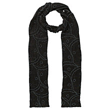 Buy East Iridescent Beaded Scarf, Black Online at johnlewis.com