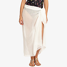 Buy Phase Eight Tilly Sarong, White Online at johnlewis.com