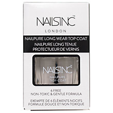 Buy Nails Inc Nailpure Top Coat, 14ml Online at johnlewis.com