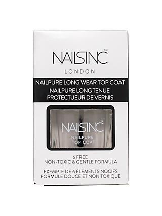 Nails Inc Nailpure Top Coat, 14ml