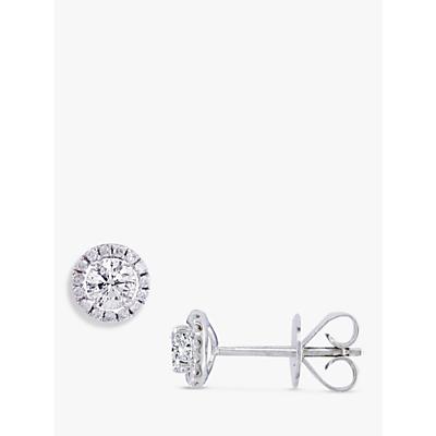 E.W Adams 18ct White Gold Diamond Cluster Stud Earrings