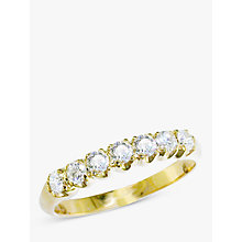 Buy EWA 18ct Yellow Gold Diamond Half Eternity Ring Online at johnlewis.com