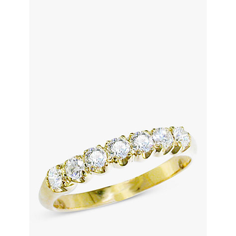 Buy EWA 18ct Yellow Gold Diamond Half Eternity Ring