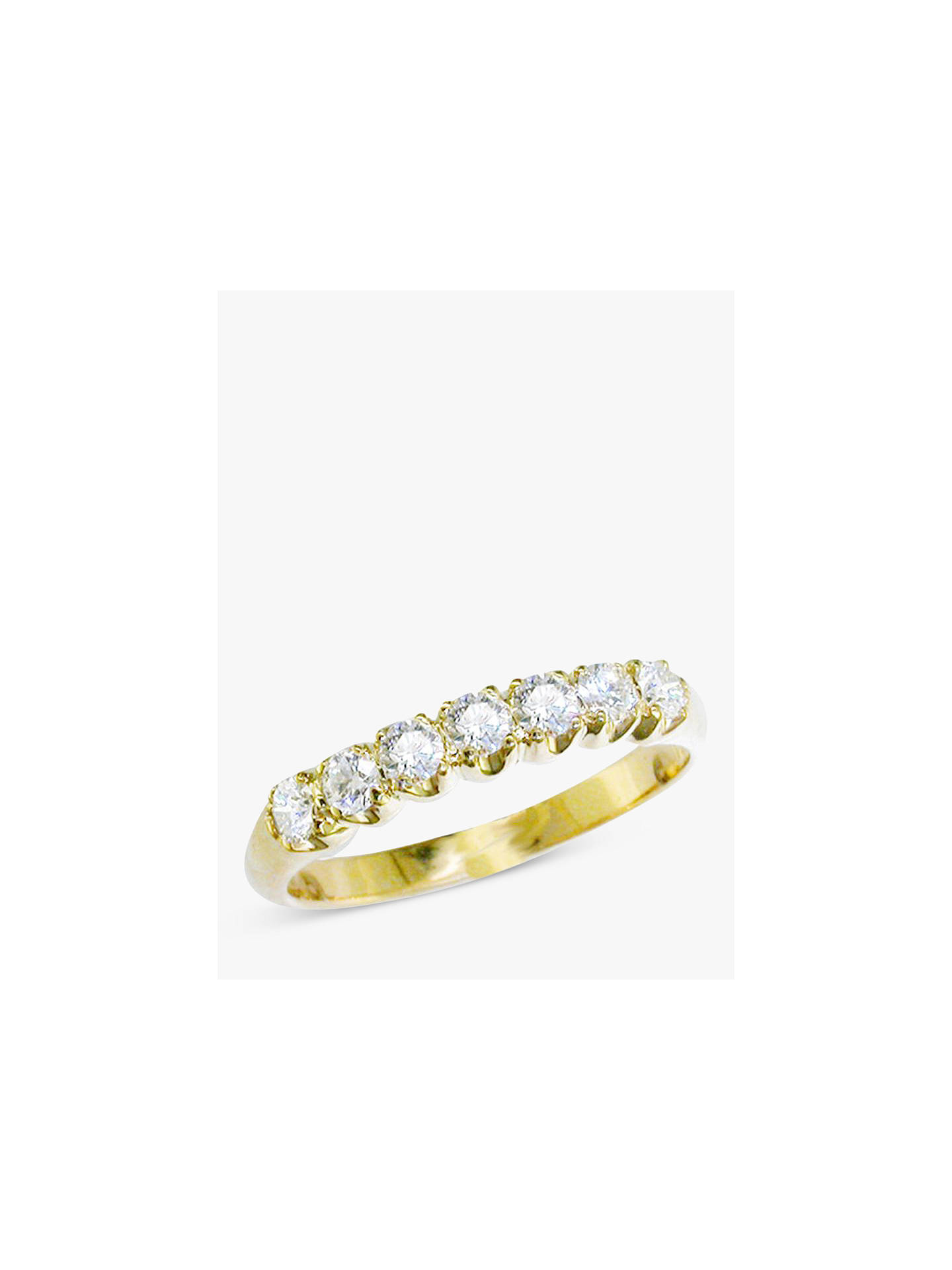 Buy E.W Adams 18ct Yellow Gold Diamond Half Eternity Ring Online at johnlewis.com
