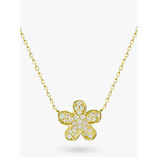 Buy EWA 18ct Gold Diamond Flower Pendant Necklace Online at johnlewis.com