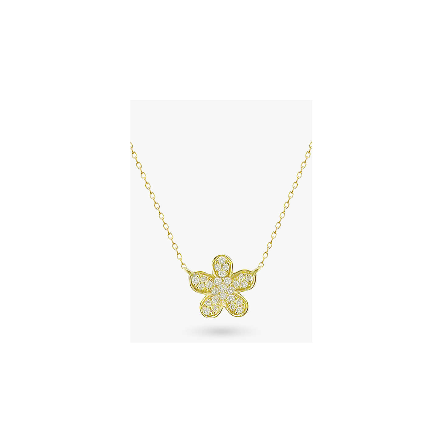 chain full gold c expand to flower click sna necklace pendant item box vintage