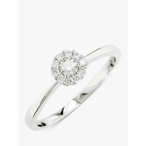 Buy EWA 18ct White Gold Diamond Cluster Engagement Ring