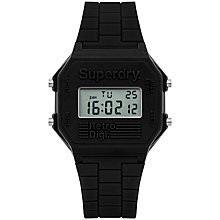 Buy Superdry Unisex Retro Digital Silicone Strap Watch Online at johnlewis.com