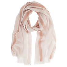 Buy Mint Velvet Powder Foil Border Scarf, Light Pink Online at johnlewis.com