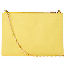 Buy Whistles Rivington Chain Clutch Bag, Yellow Online at johnlewis.com