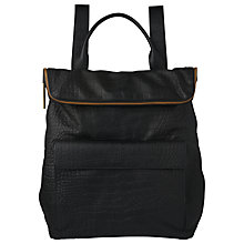 Buy Whistles Croc Finish Verity Backpack, Black Online at johnlewis.com